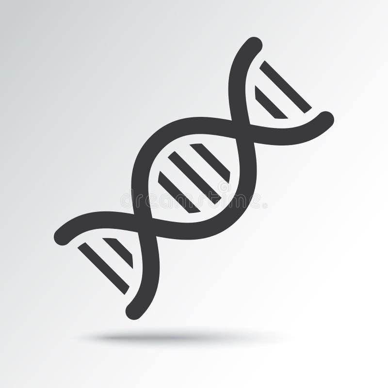 Icona del DNA con ombra Illustrazione di vettore illustrazione di stock