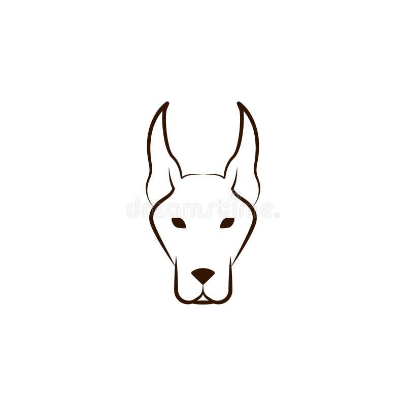 Icona del doberman Una delle razze del cane passa l'icona di tiraggio royalty illustrazione gratis