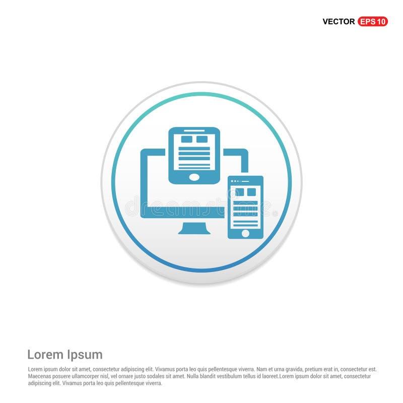 Icona del documento - bottone bianco del cerchio illustrazione vettoriale