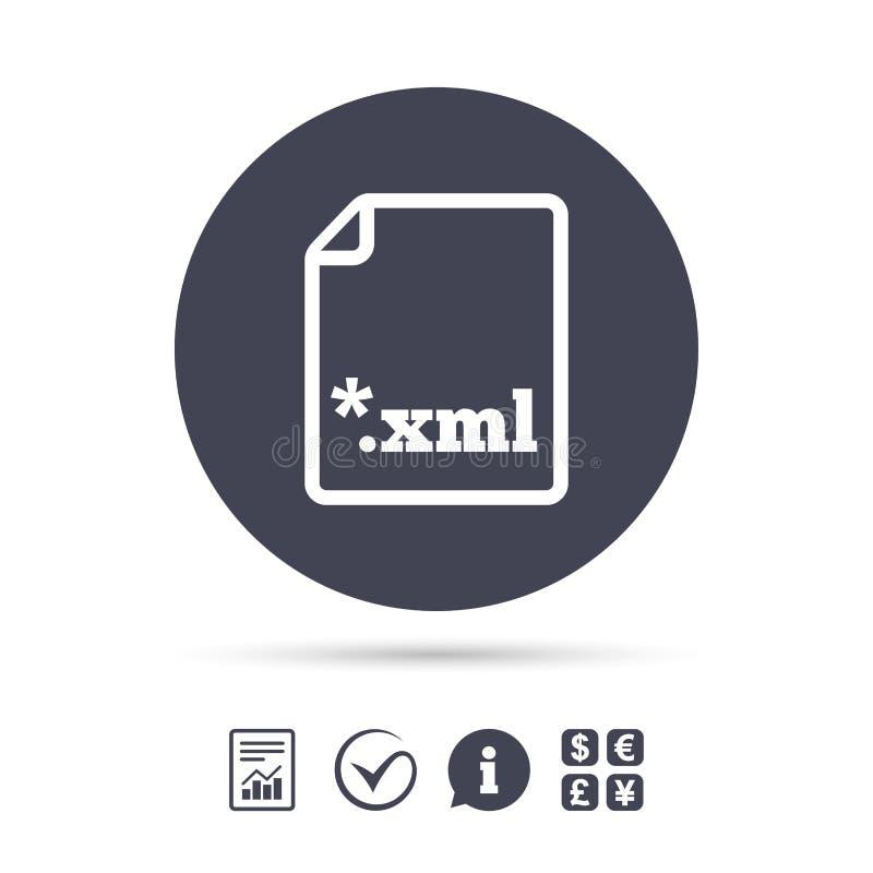 Icona del documento dell'archivio Bottone di XML di download illustrazione di stock