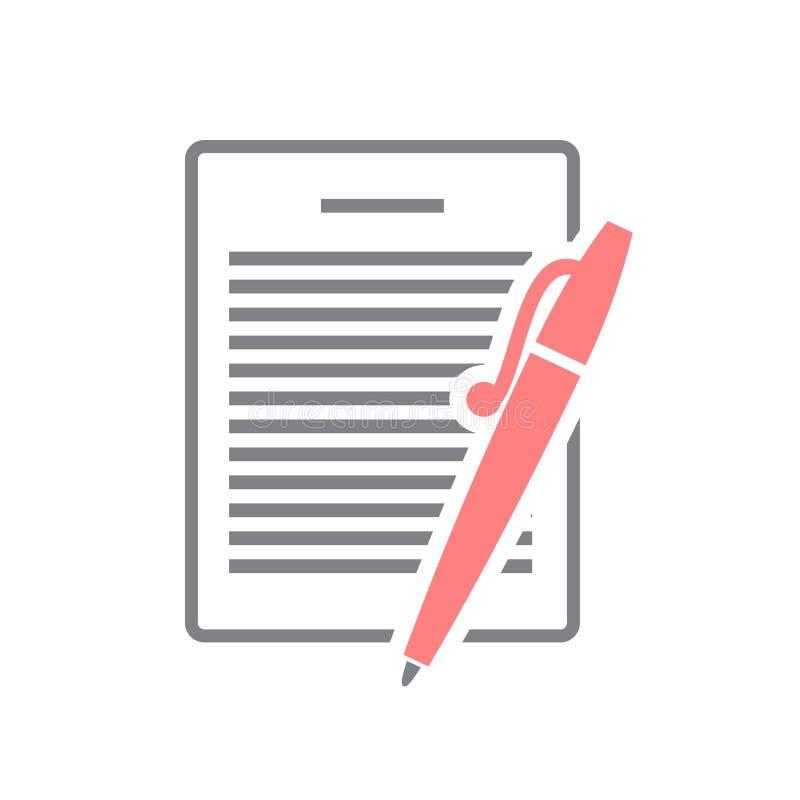 Icona del documento di affari su fondo bianco per il grafico ed il web design, segno semplice moderno di vettore Concetto del Int royalty illustrazione gratis