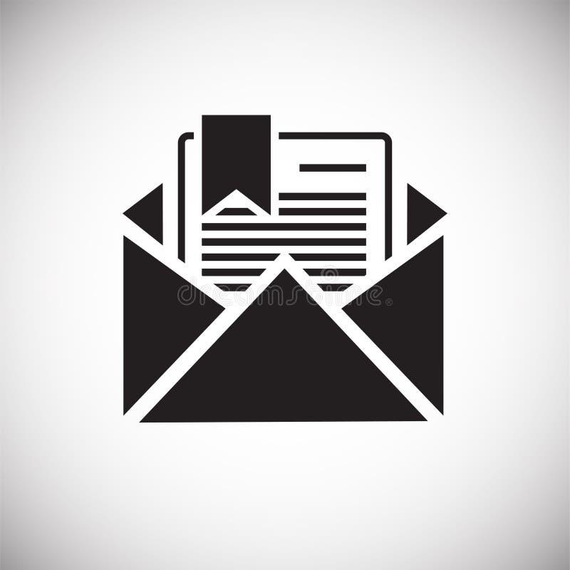 Icona del documento di affari su fondo bianco per il grafico ed il web design, segno semplice moderno di vettore Concetto del Int illustrazione di stock