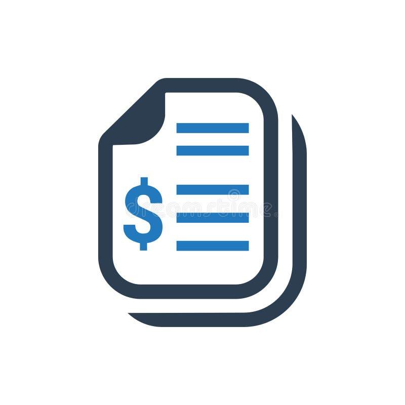 Icona del documento finanziaria illustrazione di stock
