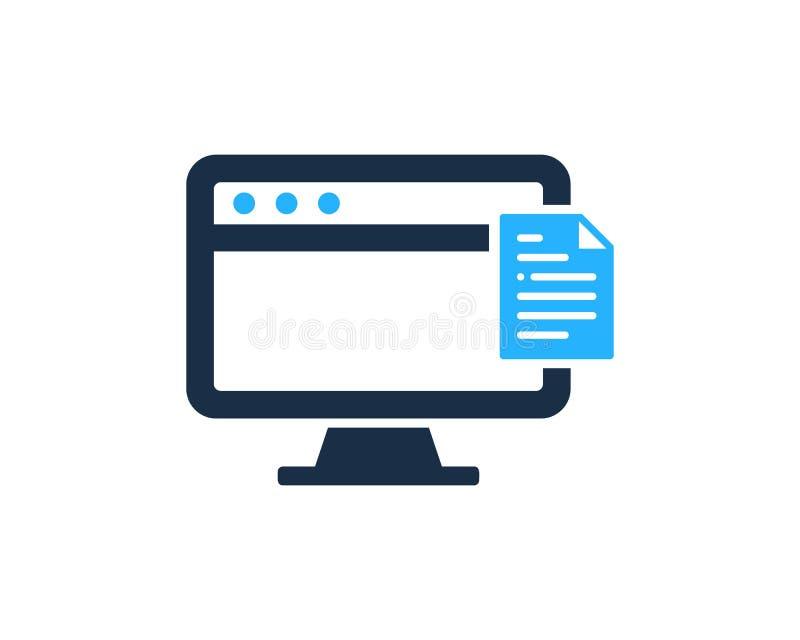 Icona del documento Logo Design Element del PC del computer illustrazione di stock