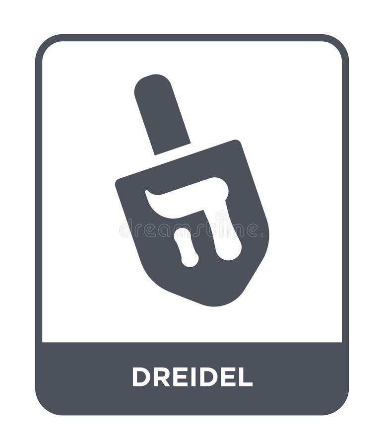 icona del dreidel nello stile d'avanguardia di progettazione icona del dreidel isolata su fondo bianco simbolo piano semplice e m royalty illustrazione gratis