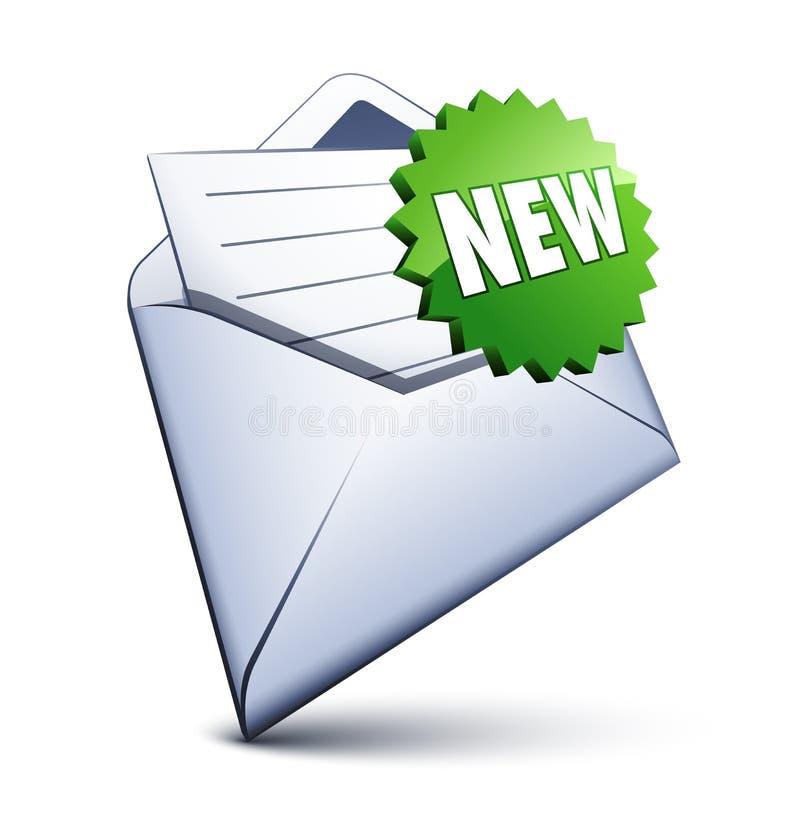 Icona del email illustrazione di stock