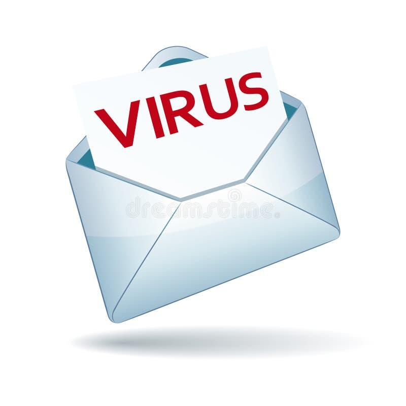 Icona del email del virus illustrazione di stock