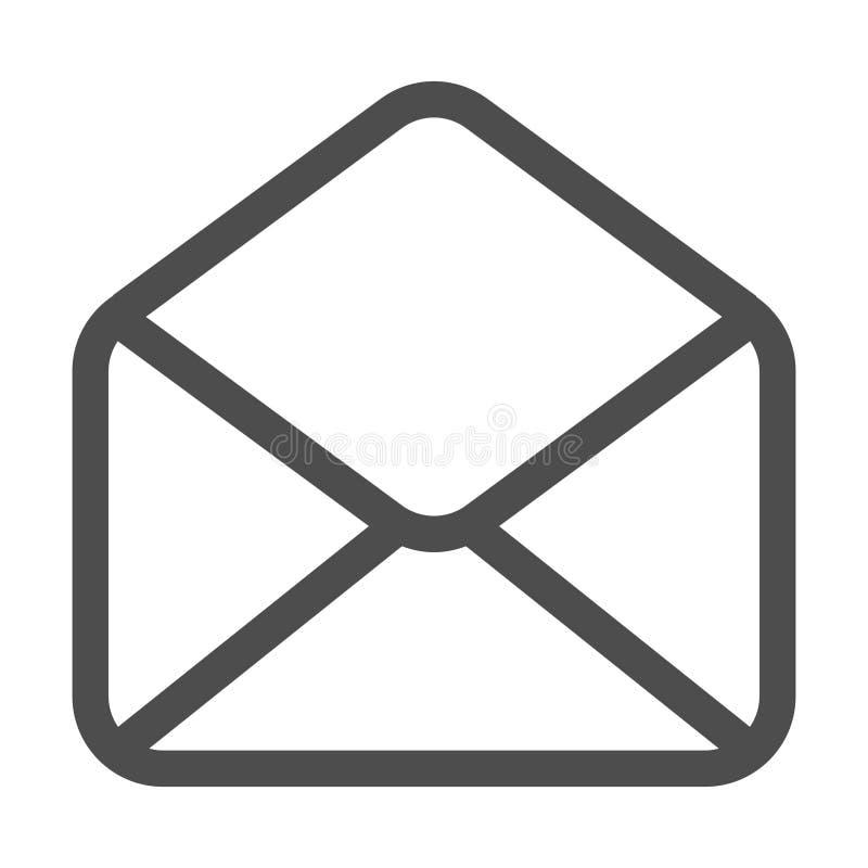 Icona del email e della posta isolata Email di simbolo della busta Segno del messaggio di posta elettronica Progettazione piana I illustrazione vettoriale