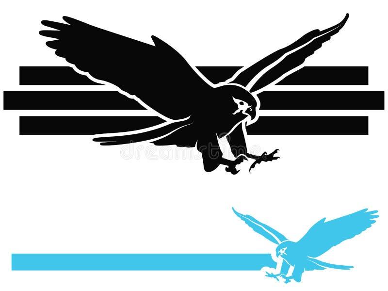 Icona del falco illustrazione di stock