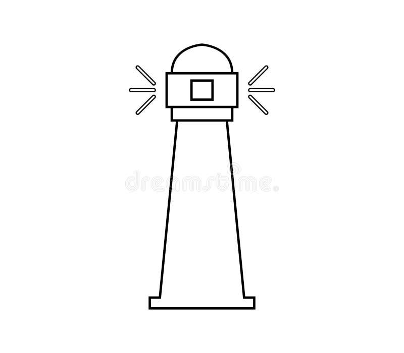 Icona del faro illustrata royalty illustrazione gratis