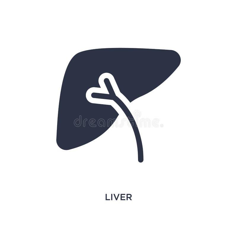icona del fegato su fondo bianco Illustrazione semplice dell'elemento dal concetto medico illustrazione vettoriale