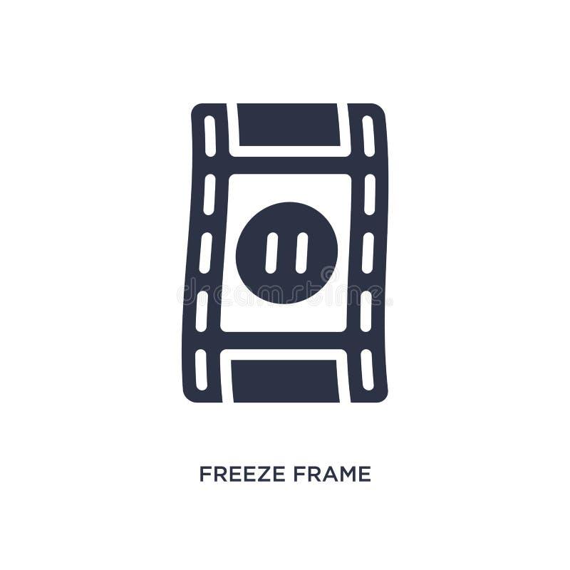 icona del fermo immagine su fondo bianco Illustrazione semplice dell'elemento dal concetto del cinema royalty illustrazione gratis