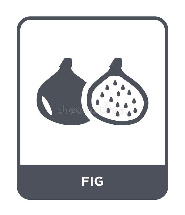 icona del fico nello stile d'avanguardia di progettazione icona del fico isolata su fondo bianco simbolo piano semplice e moderno illustrazione di stock