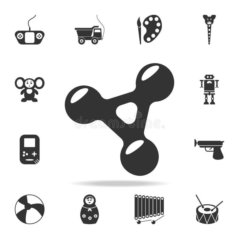 Icona del filatore di irrequietezza L'insieme dettagliato del bambino gioca le icone Progettazione grafica di qualità premio Una  illustrazione vettoriale