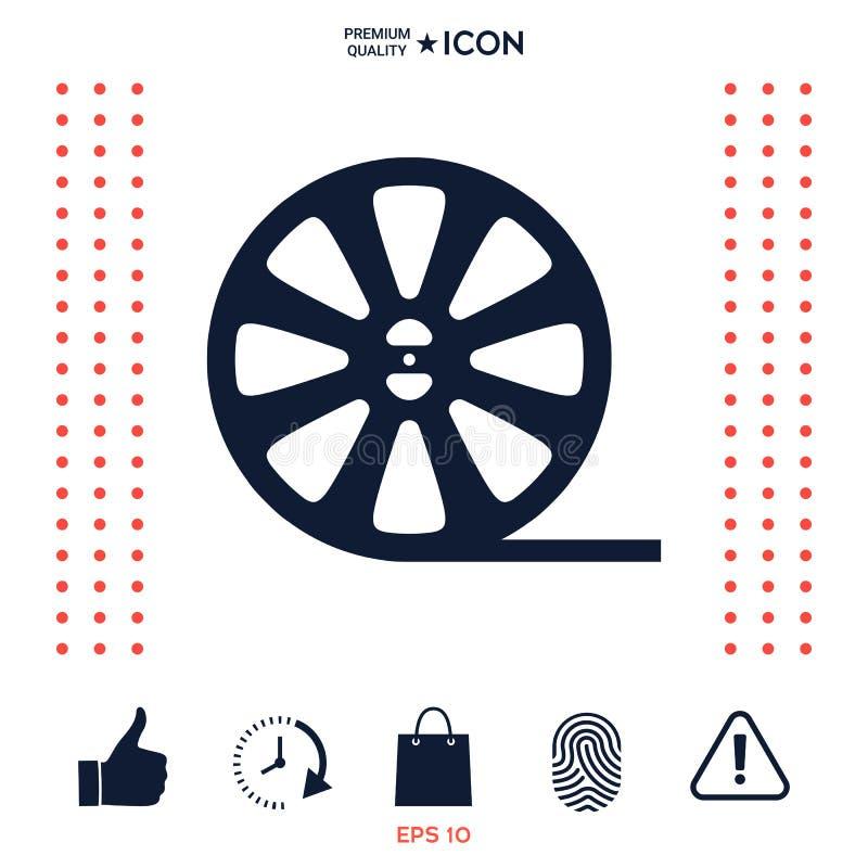 Download Icona Del Film Della Bobina Illustrazione Vettoriale - Illustrazione di multimedia, simbolo: 117976565