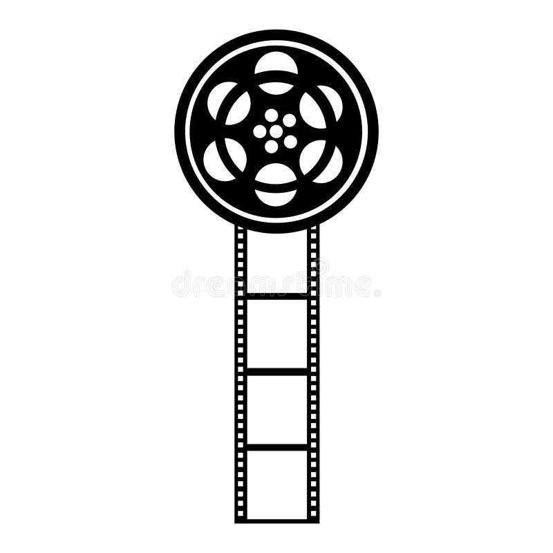 Icona del film della bobina di nastro royalty illustrazione gratis