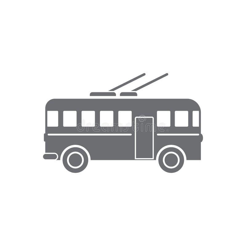 Icona del filobus Illustrazione semplice dell'elemento Progettazione di simbolo del filobus dall'insieme della raccolta di traspo royalty illustrazione gratis