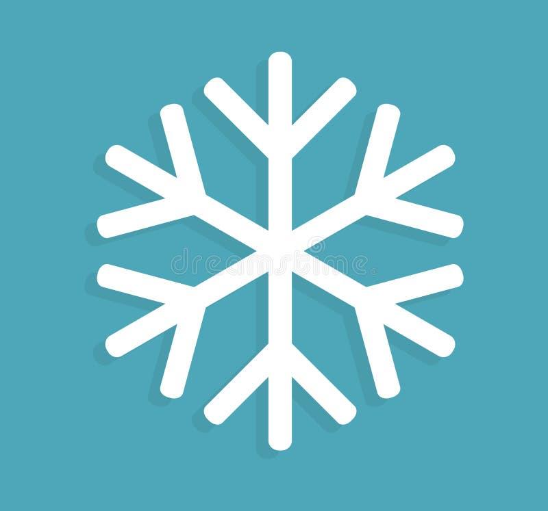 Icona del fiocco di neve su fondo blu royalty illustrazione gratis