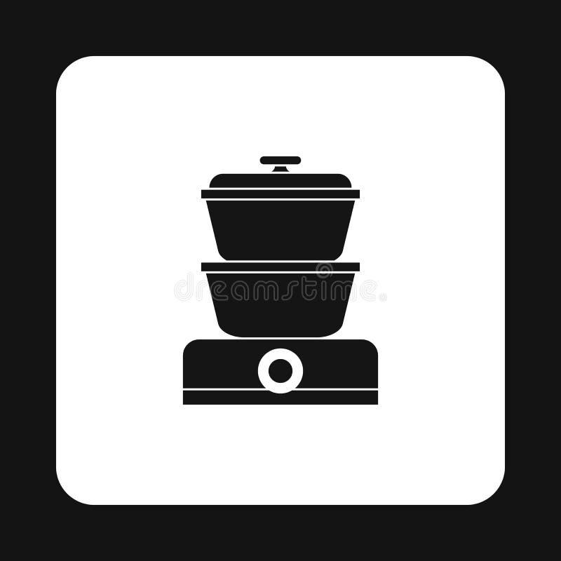 Icona del fornello del vapore, stile semplice illustrazione vettoriale