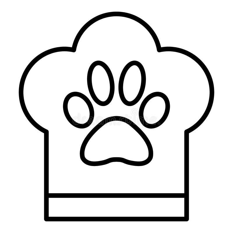 Icona del fornello dell'hotel dell'animale domestico, stile del profilo illustrazione di stock