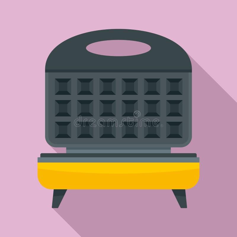 Icona del fornello della cialda, stile piano royalty illustrazione gratis