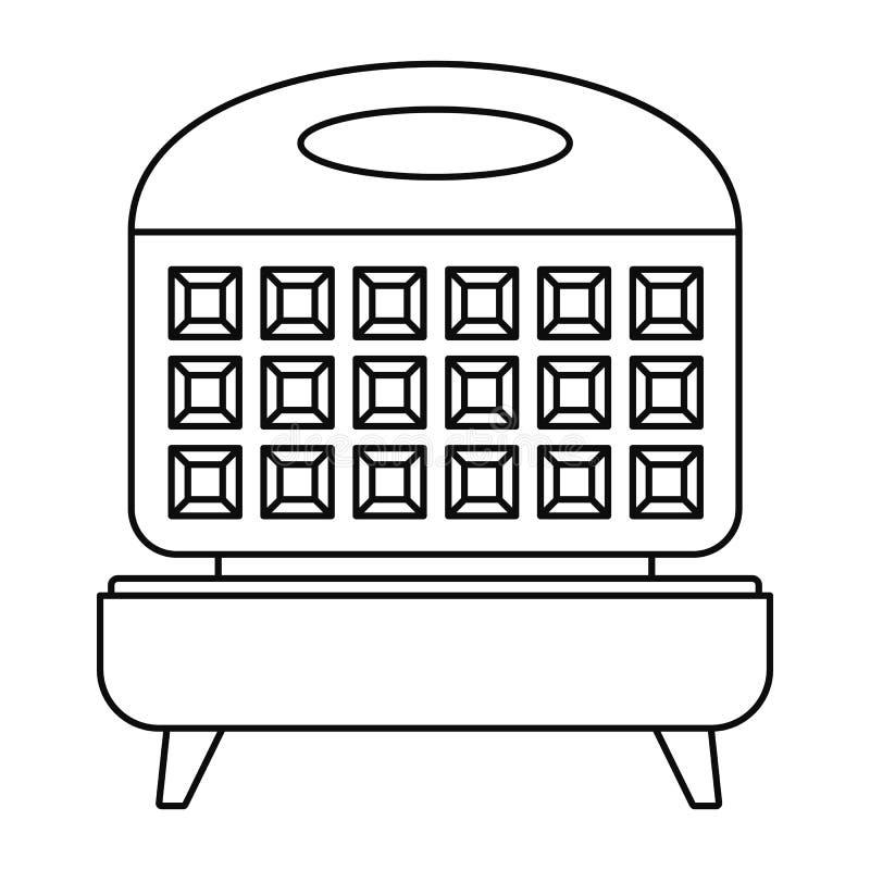 Icona del fornello della cialda, stile del profilo illustrazione di stock