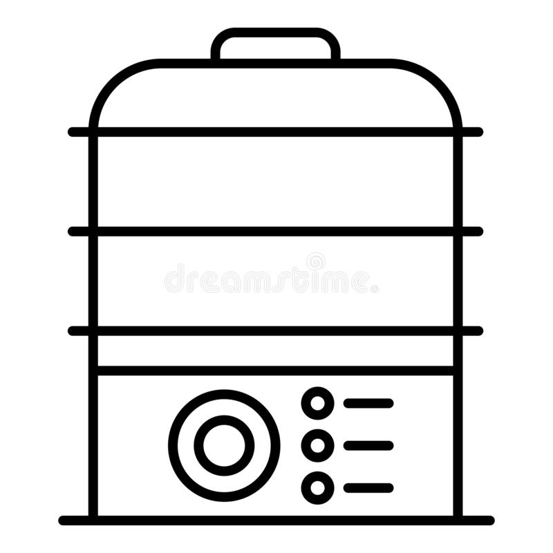 Icona del fornello della cucina, stile del profilo royalty illustrazione gratis