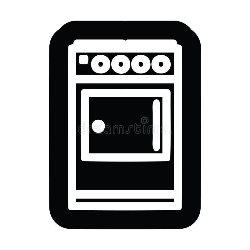 Icona del fornello della cucina illustrazione vettoriale