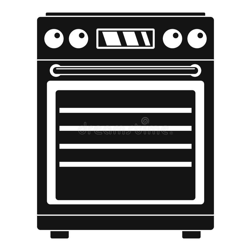 Icona del fornello di gas, stile semplice illustrazione vettoriale