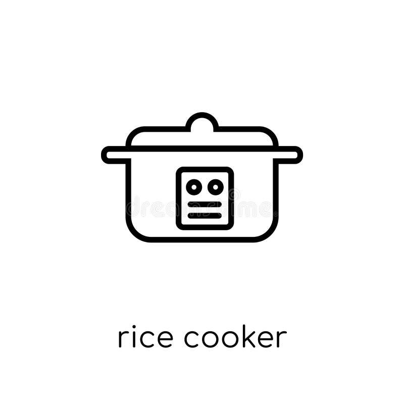 Icona del fornello di riso dalla raccolta degli apparecchi elettronici royalty illustrazione gratis