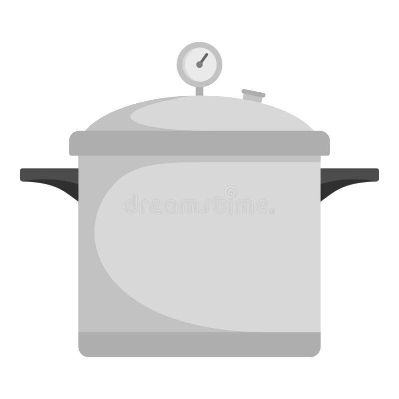 Icona del fornello di tempo, stile piano royalty illustrazione gratis