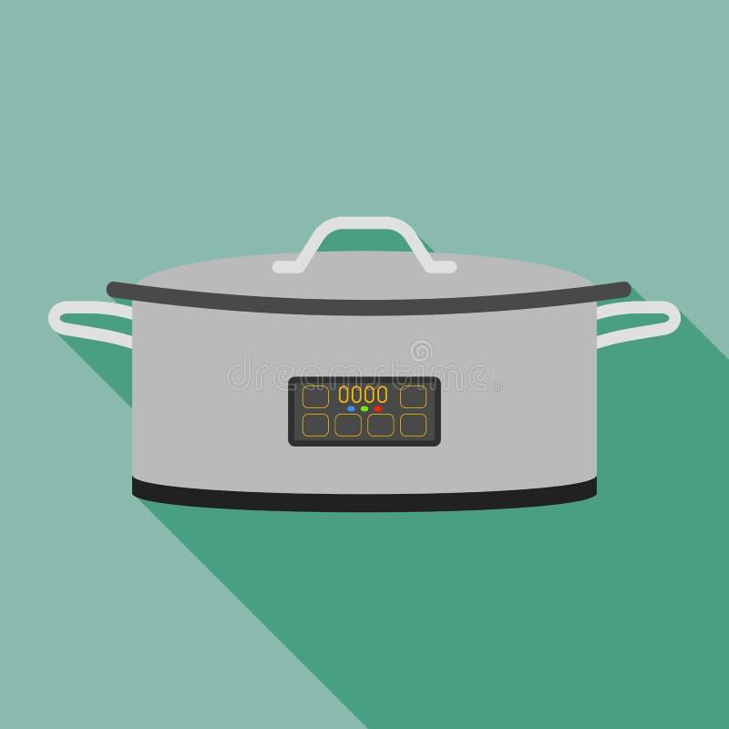 Icona del fornello del metallo, stile piano royalty illustrazione gratis