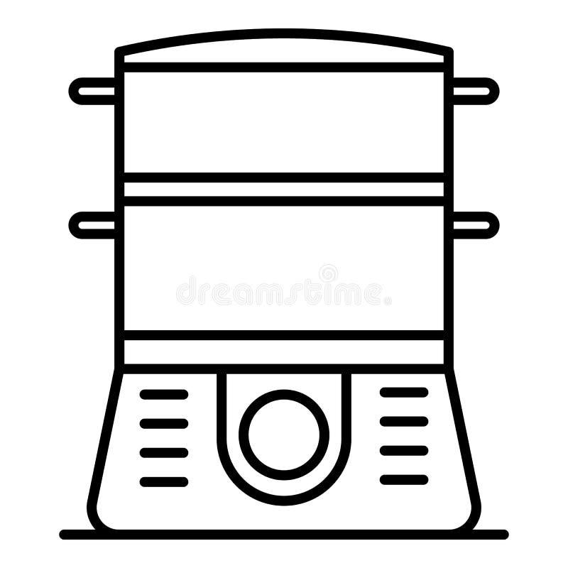 Icona del fornello, stile del profilo royalty illustrazione gratis