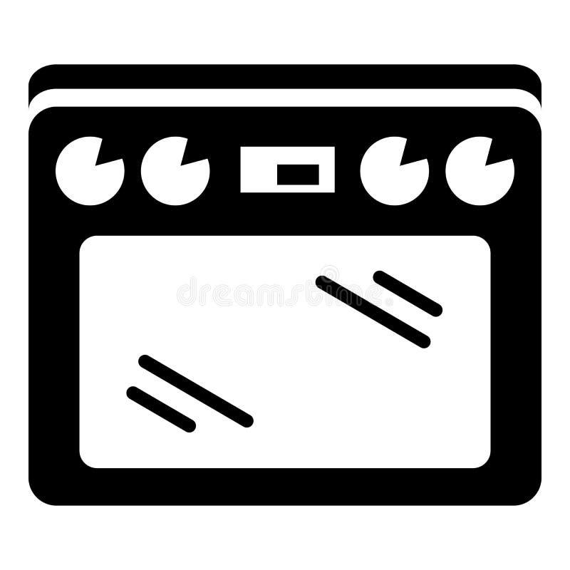 Icona del fornello, stile semplice illustrazione vettoriale