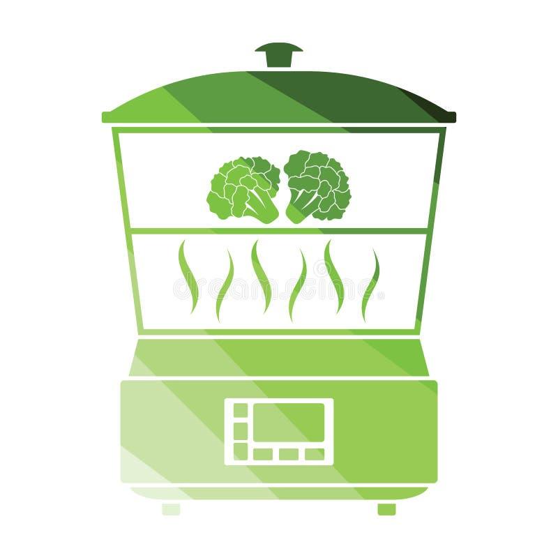 Icona del fornello del vapore della cucina illustrazione vettoriale