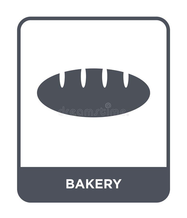 icona del forno nello stile d'avanguardia di progettazione icona del forno isolata su fondo bianco simbolo piano semplice e moder illustrazione vettoriale