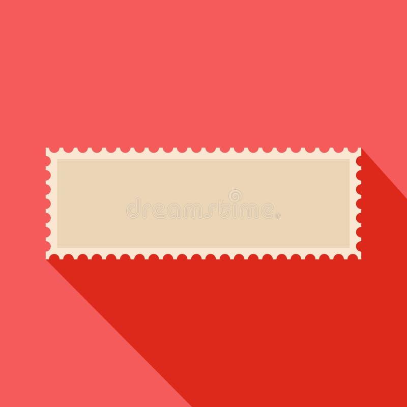 Icona del francobollo della lettera, stile piano illustrazione vettoriale