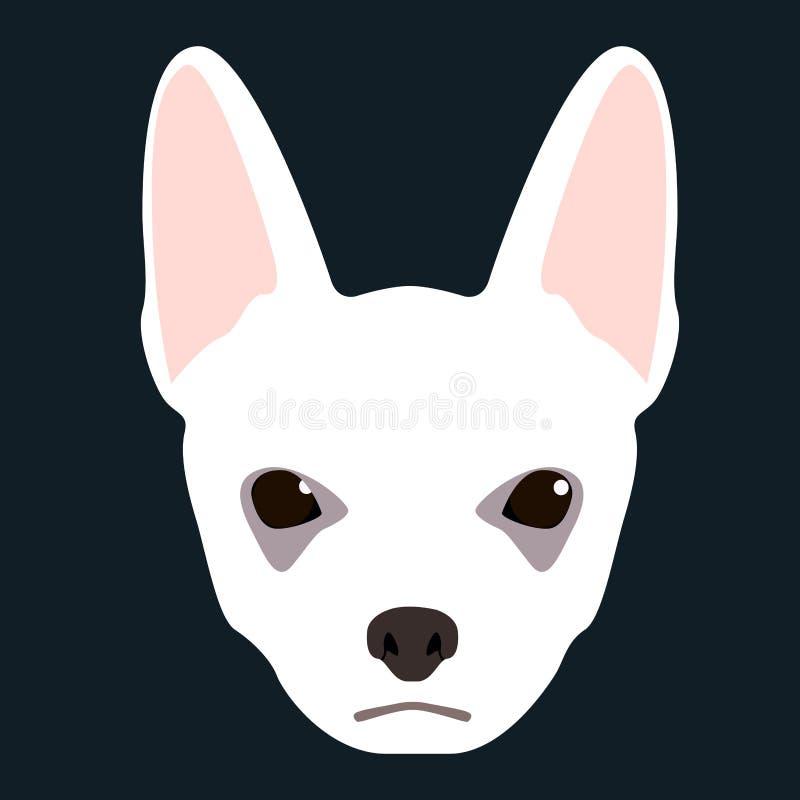 Icona del fronte del cane illustrazione di stock