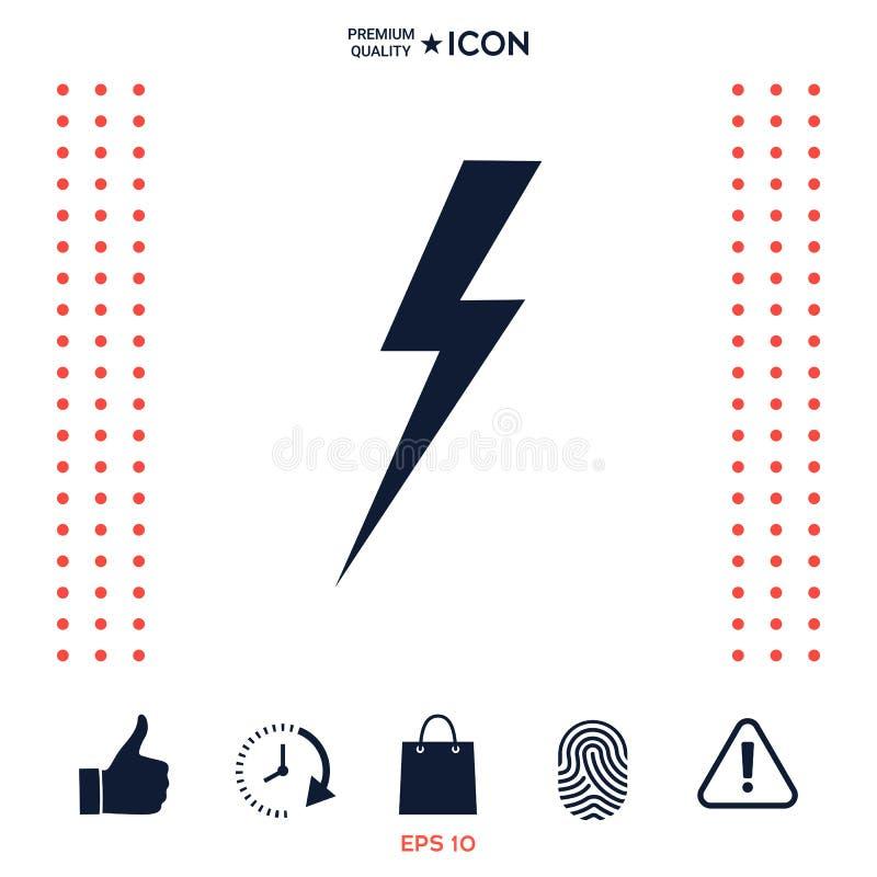 Download Icona Del Fulmine Di Temporale Illustrazione Vettoriale - Illustrazione di thunderstorm, icona: 117977419