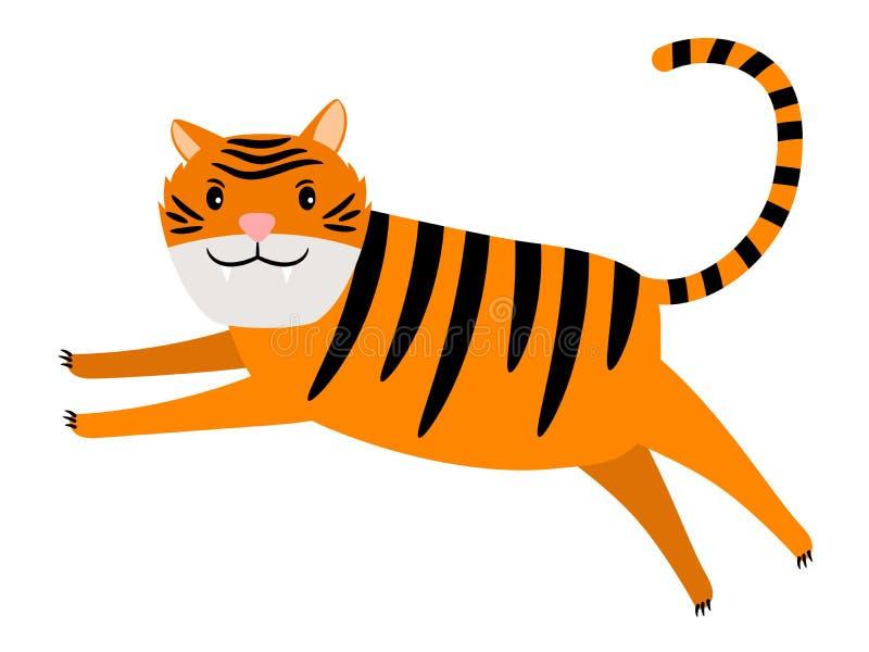 Icona del fumetto della tigre illustrazione vettoriale