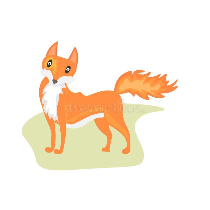 Icona del fumetto della volpe di web su un fondo bianco royalty illustrazione gratis