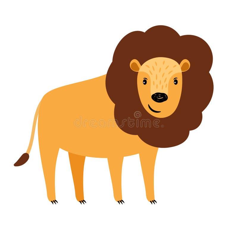 Icona del fumetto del leone royalty illustrazione gratis