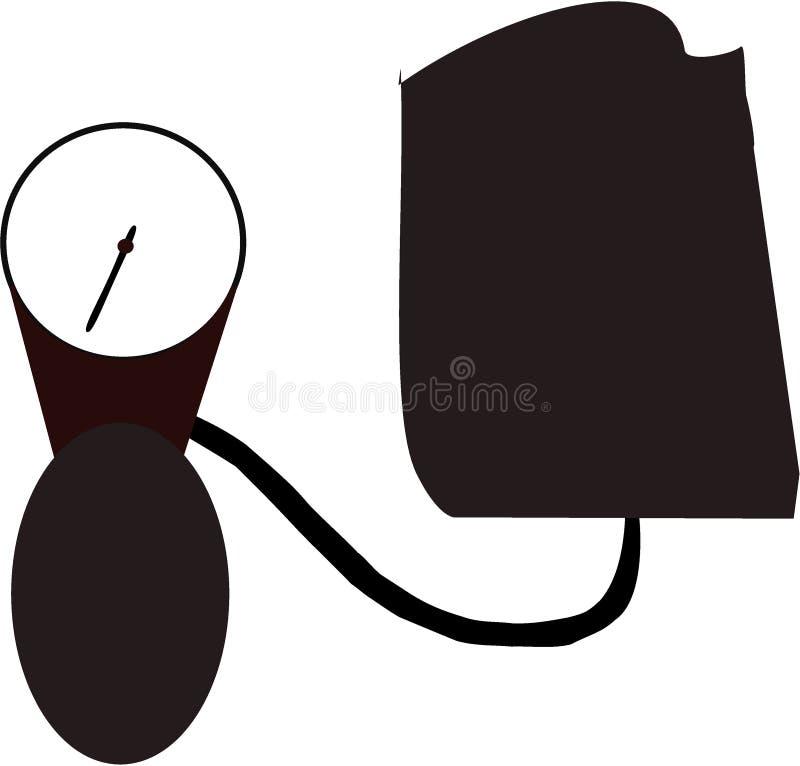 Icona del fumetto del monitor di pressione sanguigna royalty illustrazione gratis