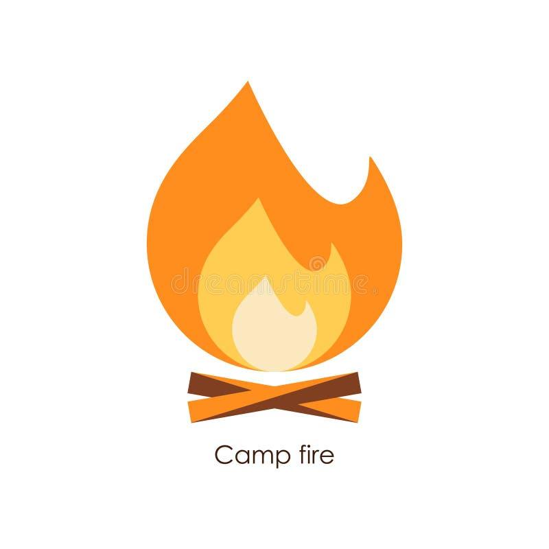 Icona del fuoco del campo Illustrazione semplice di vettore royalty illustrazione gratis