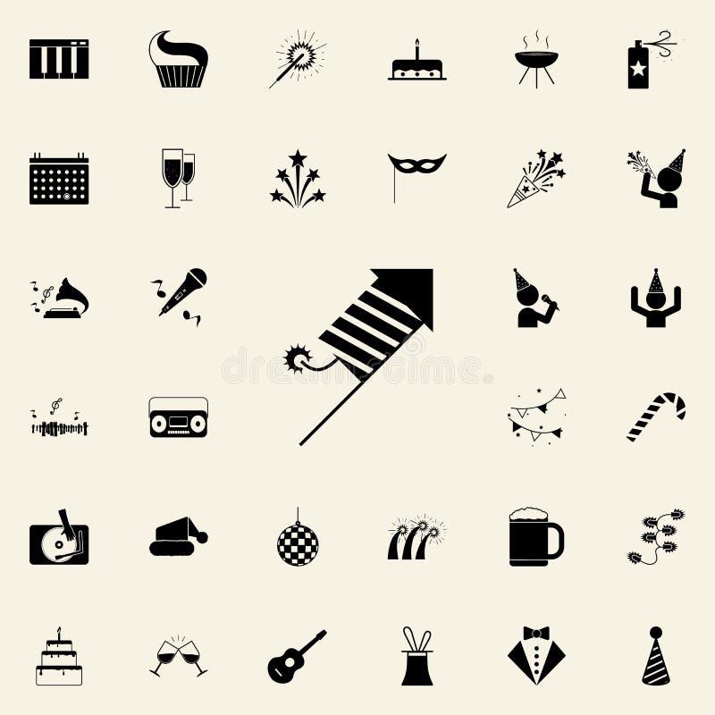 Icona del fuoco d'artificio Faccia festa l'insieme universale delle icone per il web ed il cellulare royalty illustrazione gratis