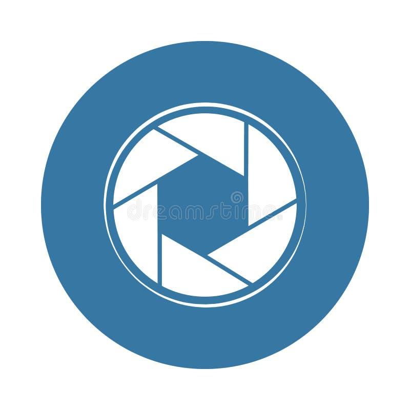 Icona del fuoco della macchina fotografica Elemento delle icone della foto per i apps mobili di web e di concetto L'icona del fuo royalty illustrazione gratis