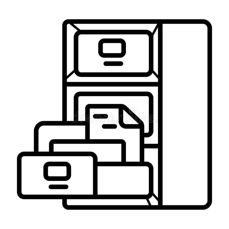 Icona del gabinetto dell'ufficio illustrazione vettoriale