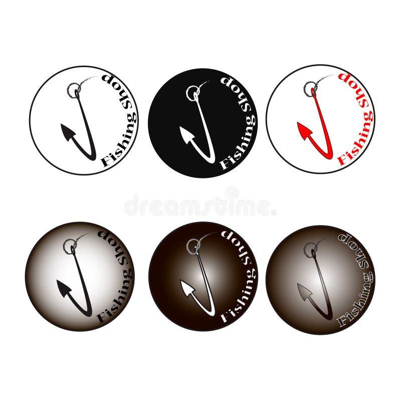Icona del gancio di vettore di logo bella fotografie stock