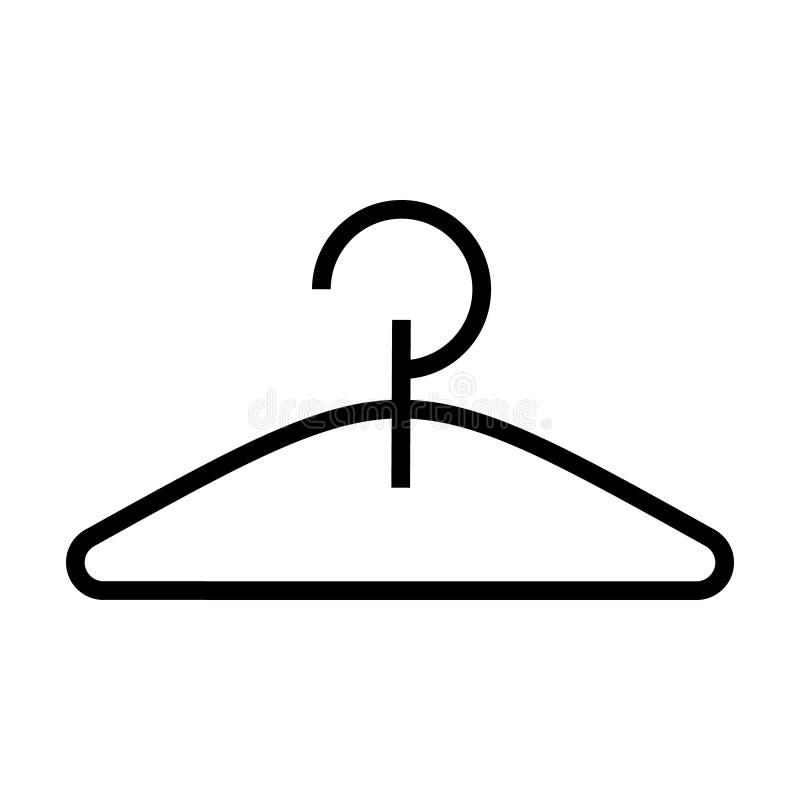 Icona del gancio, illustrazione di vettore, segno nero su fondo isolato illustrazione di stock