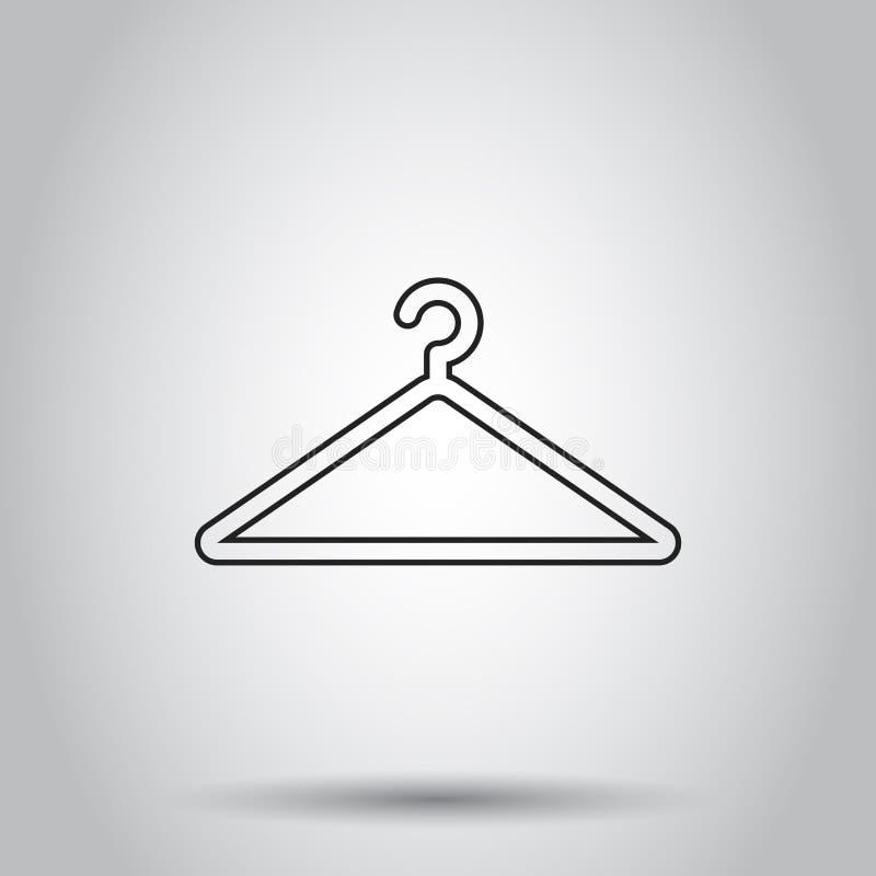 Icona del gancio nella linea stile Illustrazione di vettore su backg isolato illustrazione vettoriale